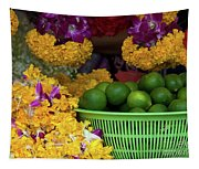 Marigolds And Limes Tapestry