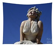 Marilyn Monroe Statue 2 Tapestry