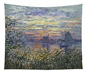 Marine View With A Sunset Tapestry