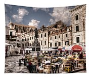 Market Day In The White City Tapestry