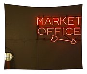 Market Office To The Right Tapestry