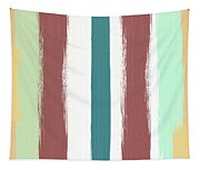 Marsala Stripe- Abstract Pattern Painting Tapestry