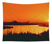 Marshland At Dusk, Bayou Country, Route Tapestry