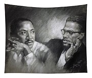 Martin Luther King Jr And Malcolm X Tapestry