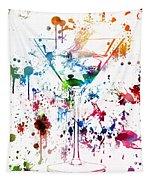Martini Watercolor  Tapestry
