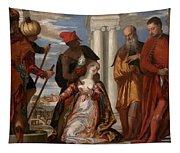 Martyrdom Of Saint Justina Tapestry