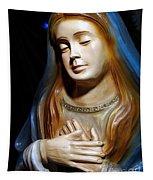 Mary In Manger Tapestry