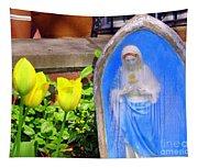 Mary In Springtime Tapestry