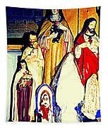 Mary Joseph And Jesus Vintage Religious Catholic Statues Patron Saints And Angels Cb Spandau Quebec Tapestry