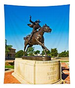 Masked Rider Statue Tapestry