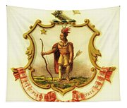 Massachusetts Coat Of Arms - 1876 Tapestry