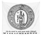 Massachusetts State Seal Tapestry