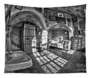 Master Bedroom At Fonthill Castlebw Tapestry