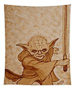 Master Yoda Jedi Fight Beer Painting Tapestry
