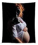 Maternity Gas Mask Tapestry