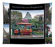 Matterhorn Mountain Disneyland Collage Tapestry