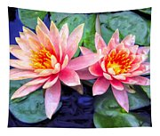 Maui Lotus Blossoms Tapestry