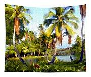 Mauna Lani Fish Ponds Tapestry