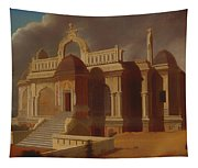 Mausoleum With Stone Elephants Tapestry