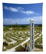 May Peace Prevail On Earth Peace Labyrinth Aruba Tapestry