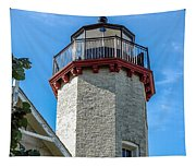 Mcgulpin Point Lighthouse Michigan Tapestry