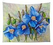 Meconopsis    Himalayan Blue Poppy Tapestry