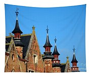Medieval Buildings Towers And Vanes Tapestry