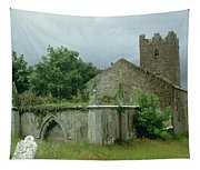 Medieval Church And Churchyard Tapestry