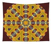 Meditating On Life - Mandala Tapestry
