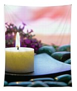 Meditation Candle Tapestry by Olivier Le Queinec