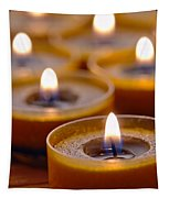 Meditation Candles Path Tapestry