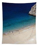 Mediterranean Coastal Scene Tapestry