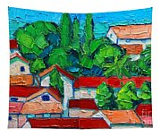 Mediterranean Roofs 2 3 Tapestry