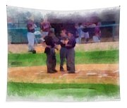 Meeting Of The Umpires Photo Art Tapestry