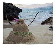 Mele Kalikimaka Merry Christmas From Paako Beach Maui Hawaii Tapestry