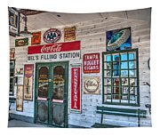 Mel's Filling Station Tapestry