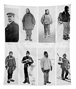 Members Of The British Antarctic Expedition At The Start Of The Journey Tapestry