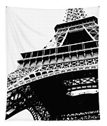 Eiffel Tower Silhouette Tapestry