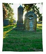 Memphis Elmwood Cemetery - Backlit Grave Stones Tapestry