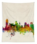 Memphis Tennessee Skyline Tapestry by Michael Tompsett