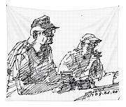 Men At The Bar Tapestry