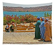 Men On Philae Island In Aswan-egypt  Tapestry