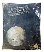 Men Walk On Moon Astronauts Tapestry