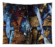 Menacing Teeth - Snow Thrower - Abstract Tapestry
