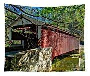 Mercers Mill Covered Bridge Tapestry