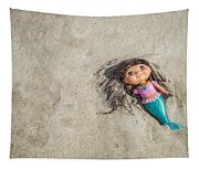 Mermaid In The Sand Tapestry