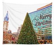 Merry Christmas From Philadelphia Tapestry