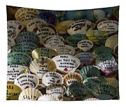 Messages On Shells Tapestry