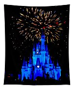 Metallic Castle Tapestry