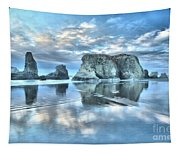 Metallic Cloud Reflections Tapestry